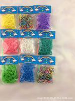 100packs loom bands Glitter rubber band Loom rubber 300pcs / bag
