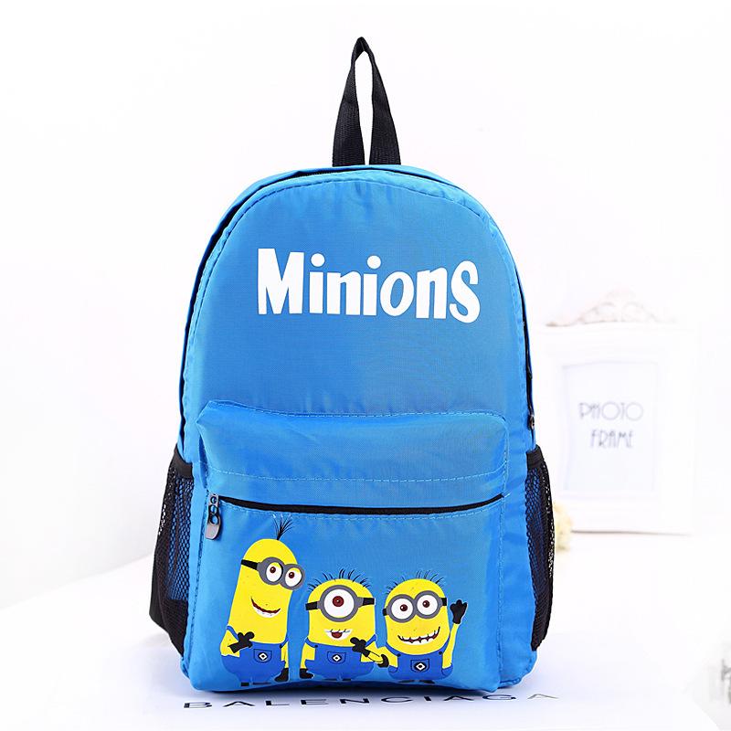 Pretty Cute Cartoon Yellow Guy Children's Backpacks Boys Bag for Girls Child Student Nursery School Daily Backpack(China (Mainland))