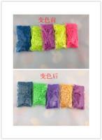 100packs loom color rubber band , temperature change  loom weaving rubber band bracelets