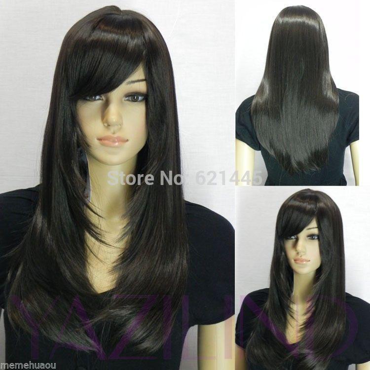ombre rosa Long Black Ramp Bangs Straight Cosplay fancy dress wigs Kanekalon costum men Hair Wig(China (Mainland))