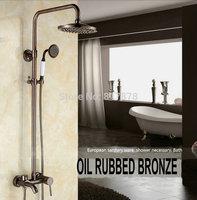 LUXURY Copper shower faucet suit American vintage antique black bronze ORB shower se154
