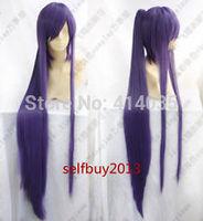 VOCALOID-Hatsune Miku Hot Sell  Miku Gakupo Long Purple Cosplay Wig +1 Clip On Ponytail human Kanekalon Wigs free shipping
