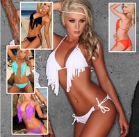 2014 hot sexy lady Set Swimwear New Free shipping Cheap Sexy Fashionable swimwear hot sexy beach bikini tassel