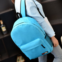 2014 japanese style brief bag solid color canvas backpack school casual bag