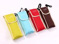 2014 free shipping monochromatic portable five folding umbrella rain men's women's travel umbrella Rechar027