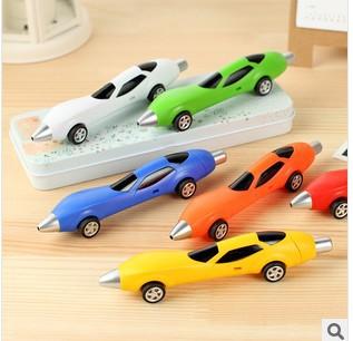 (50 Pcs/Lot) Play Car Design School Children Boys Girls Ballpoint Pen 6 Colors Can Add Logo When More Than 200 Pcs(China (Mainland))
