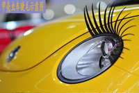 3D Automotive eyelashes car eye lashes auto 3D Eyelash 3D car logo sticker