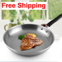 Free shipping Hot sell cheap new Stainless steel Frying pan