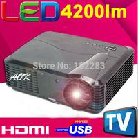 4200lumens Native 1280*800 MP3 LED LCD HD Home Theater Projector projecktor proiektorea projekciilo With HDMI+USB+TV Tuner