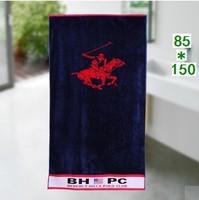 Free shipping, new 2014 jacquard bath towel 85 * 150 cm American brand, 100% cotton beach towel, sports / travel / household