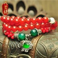 Natural agate bracelet necklace 2 vintage national trend lucky pi xiu circleof multi-circle bracelet