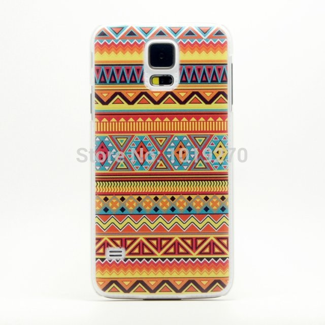 Cartoon 3D Aztec Tribe Plastic Hard Case For Samsung Galaxy S5 I9600 Phone Back Cover Skin Cute Deer Despicable Me Case 1pcs(China (Mainland))