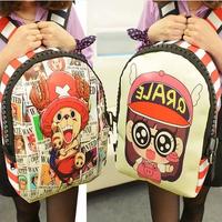2014 new One Piece bag schoolbag rucksack bag luffy anime boys and girls shoulder bag pu backpack canvas bag