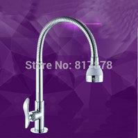 Free Shipping Deck mounted brass kitchen faucet  fold expansion DIY kitchen sink tap se159