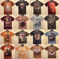 women/men leopard/lion skull/animal Funny 3D T shirt tee Cat/Dog/Wolf/Hippo/Hamsters/Monkey 3d top tee Freeshipping