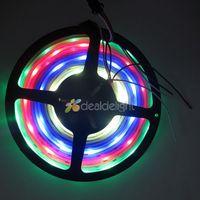 16.4FT 5M WS2811 5050 RGB Dream color 150 Leds 30 IC Digital LED strip Light Waterproof 12V Free shipping
