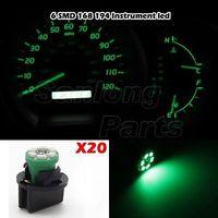 20 Pack PC194 Green Led instrument Panel Dash Light Bulb Twist Lock Wedge Socket