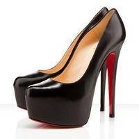 160mm Daffodil Pumps sheepskin leather high heels red bottom shoes women platform US size 3-14