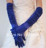 G11 Blue Satin Wedding gloves