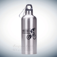 Stainless Steel Riding Kettle Bicycle Water Bottle Sports Bottle For  Travel  With Hook Doubel Wall Vacuum Keep Warm Keep Iced