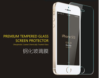200pcs 0.33MM Explosion-proof Screen Tempered Glass Protector  For iphone 5 5s 5C iphone5s No Retail Box
