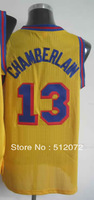San Francisco #13 Wilt Chamberlain Men's Authentic Hardwood Classics Throwback Alternate Yellow Basketball Jersey