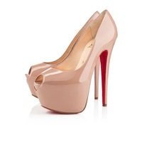 EU size 45 red bottom high heels 160mm peep toe pumps Nude black colour patent leather open toe women shoes