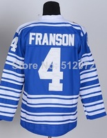 Toronto #4 Cody Franson Men's Authentic 2014 Winter Classic Blue Hockey Jersey