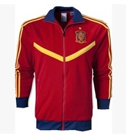 Hot Sale! 14 Spain Red Football Jacket, Brand Logo Men Jacket Soccer Jacket