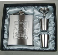 FAST SHIPPING! JD 7OZValue thick stainless steel flagon flagon portable gray silk business gifts