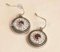 Fashion Crystal Stud Earrings With Purple Diamond