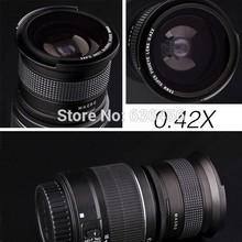 Free Ship/58mm Camera 0.42X Super Wide Angle Fisheye Lens+Macro Lens For Canon EOS Rebel T5i T4i T3i T3 T2i XSi SL 600D 700D(China (Mainland))