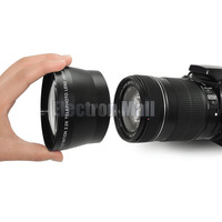 67mm 2.2x Telephoto Tele Lens for Canon EOS 550D 600D 650D 700D 60D 70D w/ 18-135mm Lens Nikon Pentax Fuji