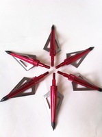 6 pcs/lot 125gr red color aftershock hunting arrow head broadhead 3-blades New Beast hunting shooting outdoor