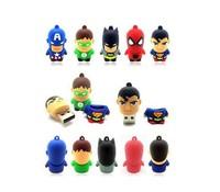 2014 New cartoon Superman warriors pendrive usb 2.0 usb flashd drive memory stick pen drive 32GB 4gb 8gb 16gb 64gb Freeship