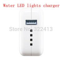 Light water LED USB Charger-100-240V output:. 5V  2.1A (U.S. regulations - EU - British regulations - AUS) USB Travel Charger