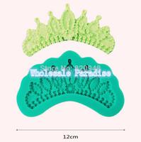 Free Shipping 1pc lace crown border shape mold Sugar craft cake decorating icing fondant lace sugar paste