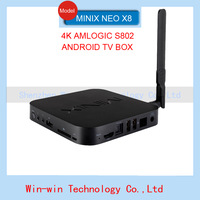 NEW MINIX NEO X8 Android TV Box Quad Core 2GB 8GB Android Kitkat 4.4 Smart TV Box 4K Mini PC XBMC amlogic s802Dolby In hot sale