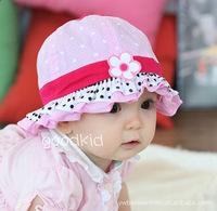 New baby boy bucket hat baby hats & caps flower Dot casual sunbonnet baby girl cotton child summer sun hat