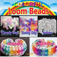 250pcs/pack UV Beads For DIY Loom Bands Bracelets, Mix-color UV Color Changing Beads Specail For Your Bracelets
