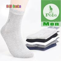 2014 New Men's Elite Business Socks Summer Polo Sport Socks Men Calcetines Cotton 100 Brand Sox male 5pair/lot Free Shipping