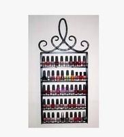 European nail polish rack hanging display shelf cosmetic Nail salons, wrought iron frame 5 layers