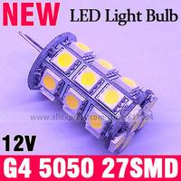 5X G4 4W SMD 5050 27 LED Warm White 3500K LED Light Bulb Lamp DC 12V
