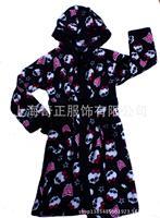 2014 New Cartoon Monster Style Female Child Robe Coral Fleece Thickening With a Hood Winter Female Children Bathrobe F20