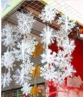 2 sets Christmas Party Decorations Supplies White Snow Snowflakes Hanging Ornaments One Set with 3pcs/1 set =18cm/25cm/35cm