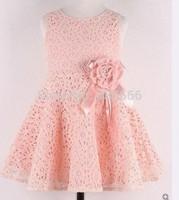Female baby girls dress sleeveless dress baby girl dresses Spring Rose Dress