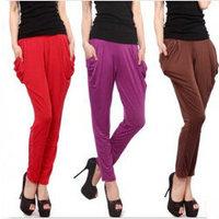 New Summer Dress Pants 2014 Fashion Solid Color High Waist Harem Pants Plus Size Women Pants 10 Colors Trousers A508