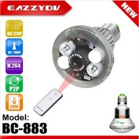 BC-883 A Real Bulb +Two-way Mode WiFi/AP IP Network DVR Camera with Real Light Control by Remote