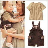 Details about Baby Boys Kids 2 Piece T-Shirt Top Belt Pants Jumpsuits Playsuits Clothes Outfit
