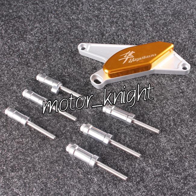 Protetor do motor do estator capa Slider para Suzuki Hayabusa GSXR1300 1999-2012 ouro(China (Mainland))